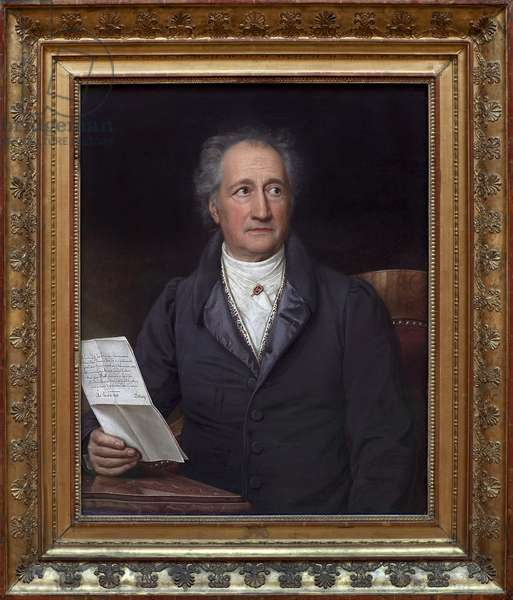 Johann Wolfgang von Goethe (1749-1832). Painting by Joseph Stieler (1781-1858), Oil On Canvas, 1828. German Art, 19th century. Neue Pinakothek, Munich (Germany).
