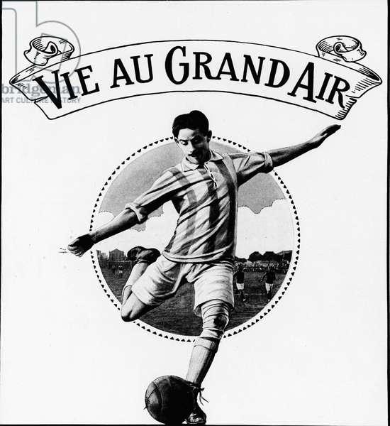 "Footballer - in ""La Vie au Grand Air"""", March 1914.¿"
