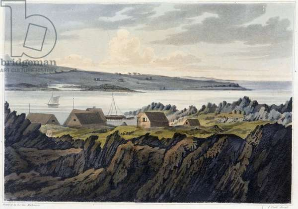 "A Village of Iceland: Havenfiord - in """" Travels in the Island of Iceland during the summer of the year 1810"""" by Sir George Stewart Mac Kenzie, 1811"