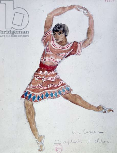 Costume design for Mikhail Fokin's ballet 'Daphnis and Chloe', 1912 (w/c on paper)