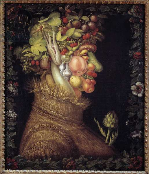 The Summer. Allegory about the Seasons. Painting by Giuseppe Arcimboldo (1527-1593). Musee du Louvre