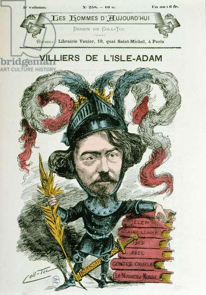 "Auguste Villiers de L'Isle Adam (Isle-Adam) (1838-1889) - by Coll-Toc, in """" The men of today"""""