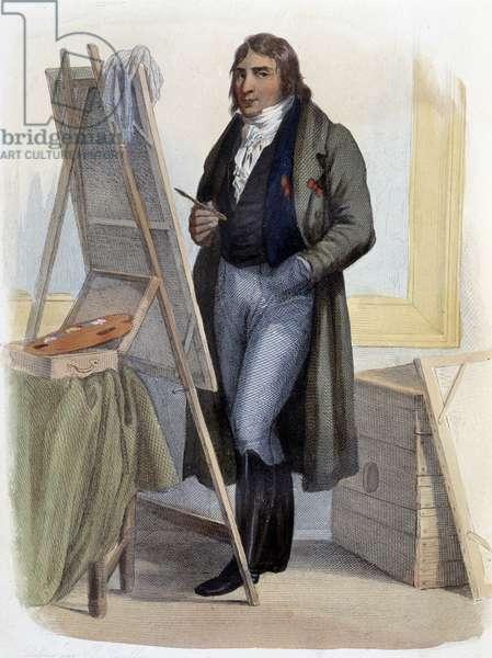 """Antoine Jean Gros, neoclassical painter (1771-1835) - in """""""" Le Plutarque francais"""""""", by Mennechet, Paris, 1844-47"""