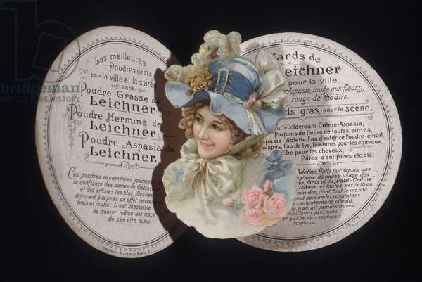 Leichner Fat Powder Labels: Make-up powder for women selling the merits of the beauty product.