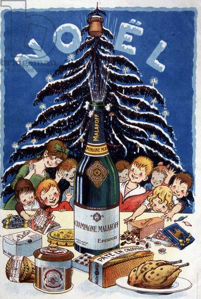 Advertising drink for Malakoff champagne, deb. 20th century
