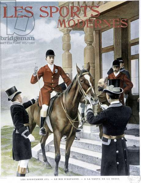 """Hunting: The King of Spain (Alfonso XIII) - Couv. in """""""" Modern Sports"""""""" from 01/1906"""