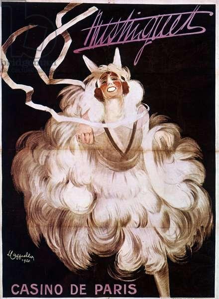 Mistinguett (Mistinguette) at the Casino de Paris, poster by Leonetto Cappiello (1875-1942), 1920.
