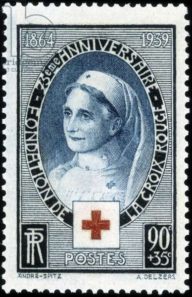 Stamp commemorating 75 years of the Red Cross, 1939