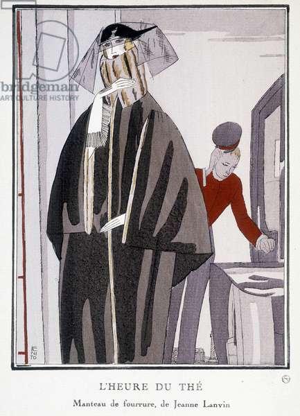 "Fur coat by Jeanne Lanvin, ""La Gazette du bon ton"", 1922."