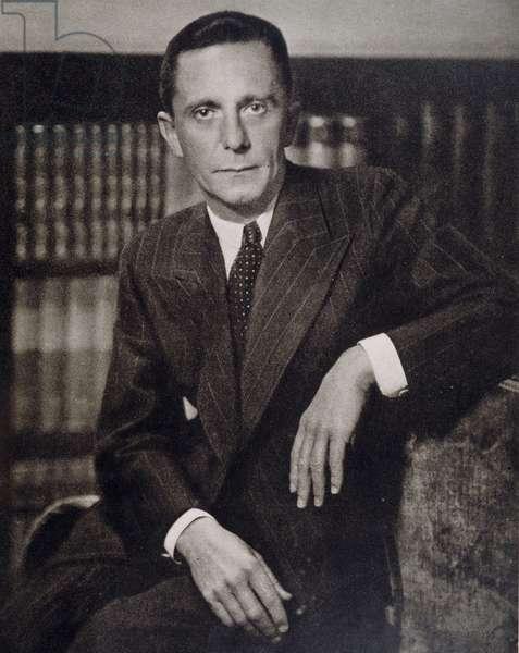 """Portrait of Joseph Goebbels (1897-1945), """""""" Die Woche"""""""""""" 28/10/1942."""