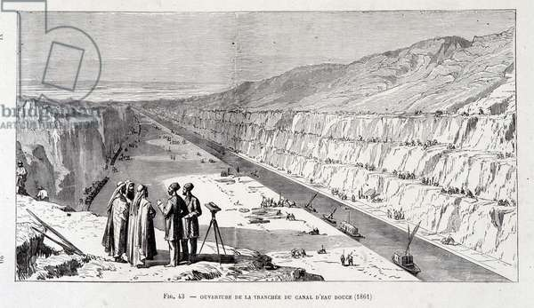 Opening of the Trench of the Freshwater Canal of the Suez Canal, 1861