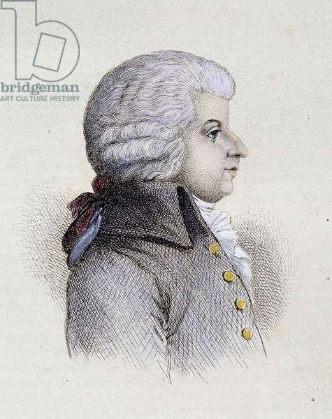 Portrait of Wolfgang Amadeus Mozart (1756-1791) young - engraving, 19th century
