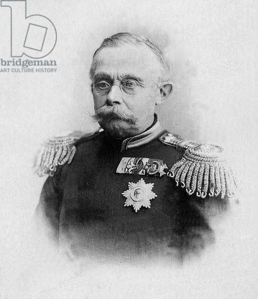 Portrait of Adolphe de Nassau, Grand Duke of Luxembourg (1817-1905), he was the founder of the regaining national dynasty of Luxembourg, since his independence in 1890. Photography, beginning of the 20th century.