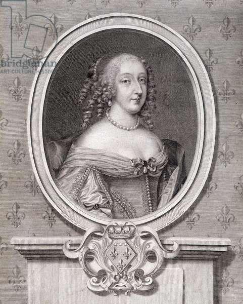 "Portrait of Mademoiselle de Montpensier called ""Grande Mademoiselle"", 17th century."