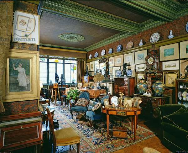 Linley Sambourne House, The Drawing Room , built by George Aitchison (1825-1910) between 1866 and 1895;  Kensington & Chelsea, London, UK (photo)