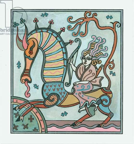 Sagittarius, 1999 (gouache on paper)