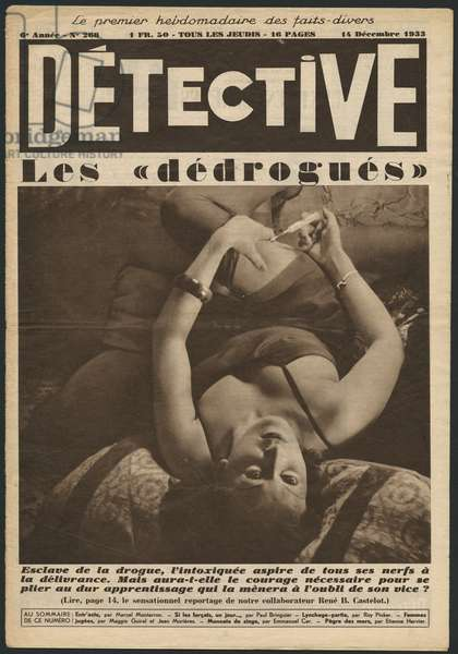 The 'detoxeds', front cover illustration from 'Detective', 14th December 1933 (photolitho)