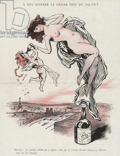 Advertisement for 'Vin Mariani', illustration from 'La Vie Parisienne', 6th May 1905 (colour litho)
