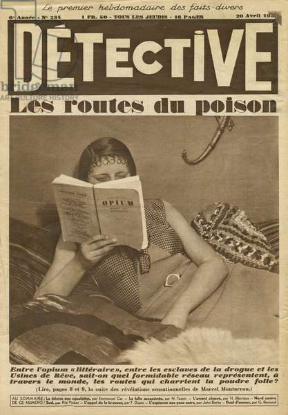 The Roads of Poison, back cover illustration from 'Detective', no 234, 20th April 1933 (photolitho)