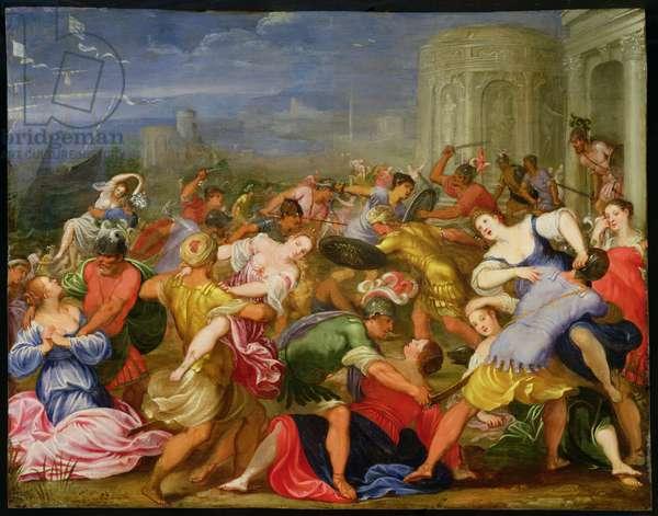The Rape of the Sabine Women, 1622 (oil on copper)