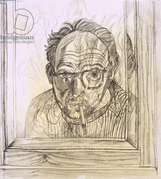 Self Portrait III (pencil on beige paper)