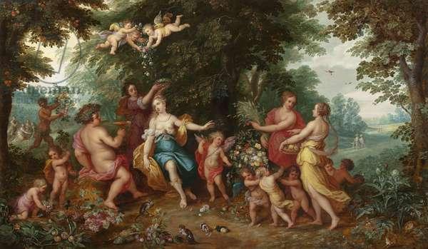 Allegory of Abundance (oil on panel)