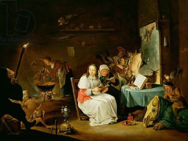 Witches Preparing for the Sabbath (oil on panel)