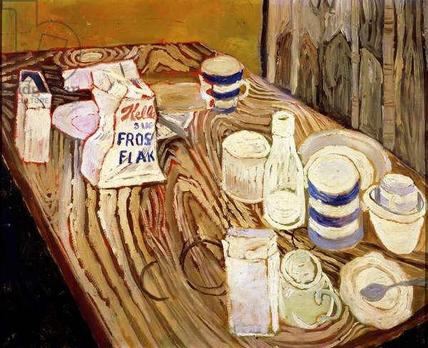 Still Life with Wardrobe, c.1954 (oil on board)