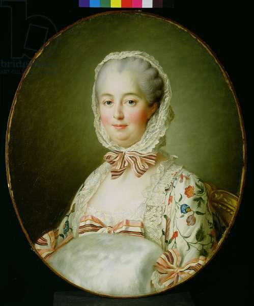 Portrait of Madame de Pompadour with a Fur Muff (1721-64) 1763-64 (oil on canvas)