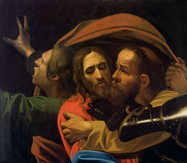 The Taking of Christ (oil on canvas) (detail of 204177)