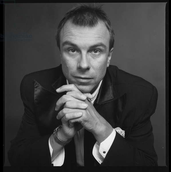Portrait of Thierry Mugler, French stylist, 1984 (photo)