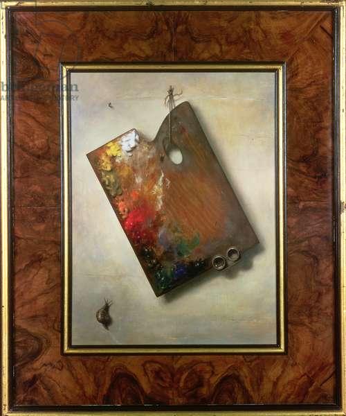 Poor Artist's Palette, 1984 (oil on board)