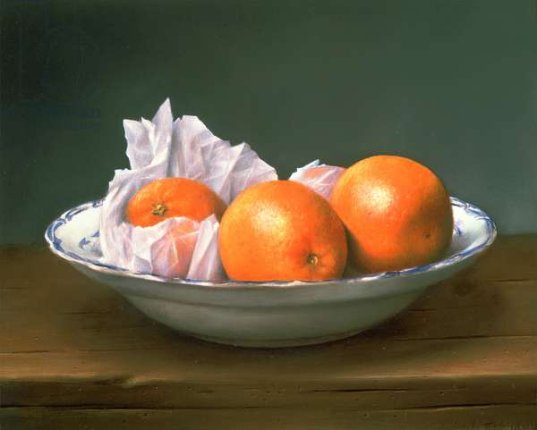 Oranges, 1977 (oil on board)