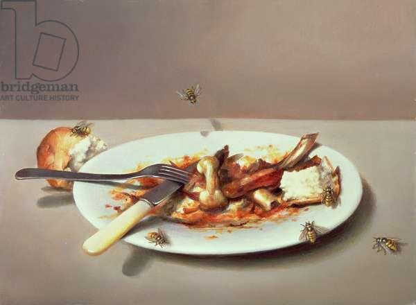 Pollo alla Diavolo, 1982 (oil on board)