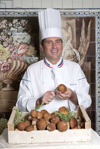 Portrait of Michel Roth, chef at the restaurant of the hotel du Ritz. The restaurant of the Ritz has three Michelin stars, Michel Roth is the best worker in France. Photography 03/09/10