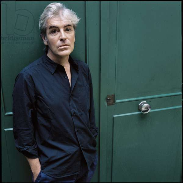 Literature: Portrait of Gilles Leroy, French writer born in 1958.