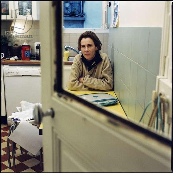 Literature: Portrait of Marie Desplechin, French writer born in 1959.