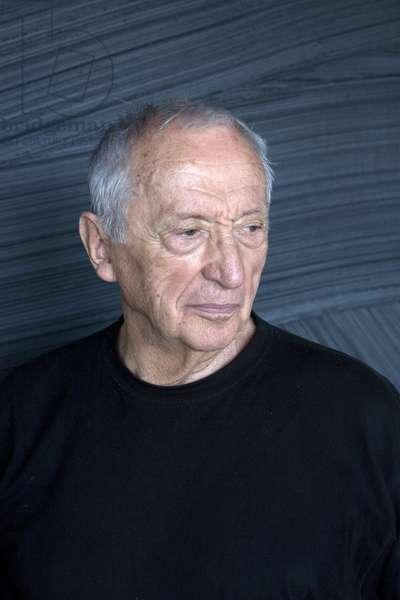 Portrait of Pierre Soulages, painter. Photography 2010