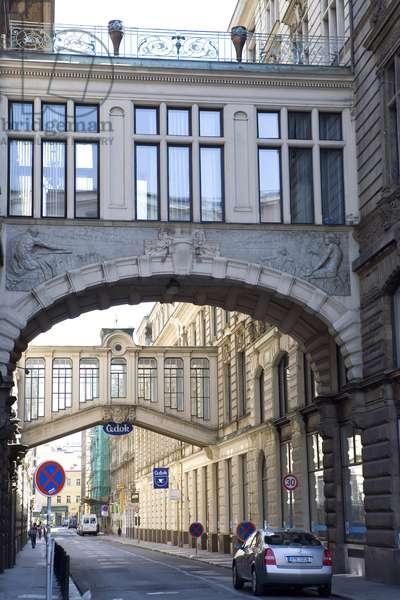 Neighbourhood Nove Mesto in Prague, Czech Republic.