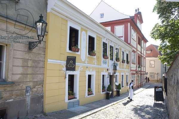 Novy Svet district in Prague, Czech Republic.