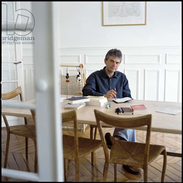 Literature: Portrait of Jean Marc Roberts (Jean-Marc Roberts), French writer born in 1954. Photography