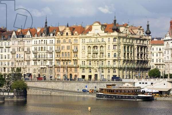 Masarykovo nabr dock in Prague, Czech Republic. Photography 2009