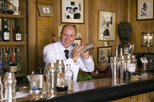 Colin Field, bartender chef at the Hemingway bar at the Ritz in Paris.