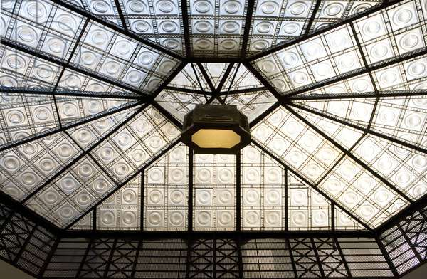 Ceiling (glass) of the Lucerna Gallery in Prague, Czech Republic.
