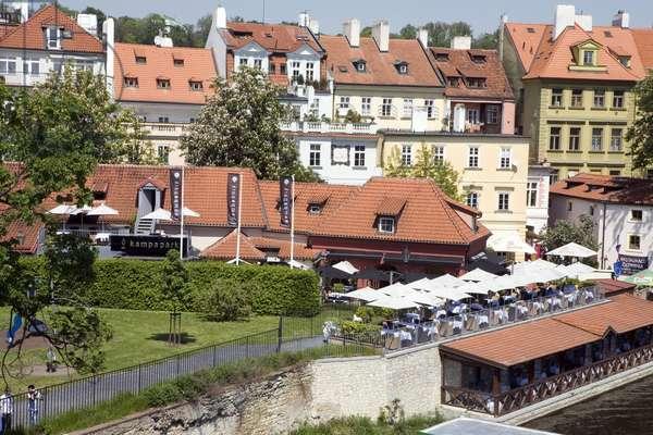 Restaurant Kampa Park in Prague, Czech Republic. Photography 2009