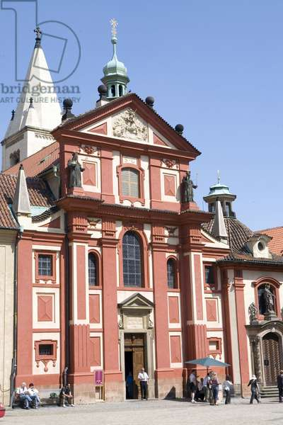 Facade of St. George's Basilica in Prague, Czech Republic. Photography 2009