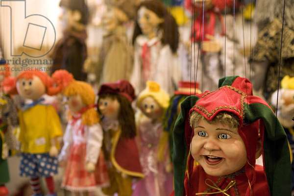 Puppet from Havelska March to Prague, Czech Republic. Photography 2009