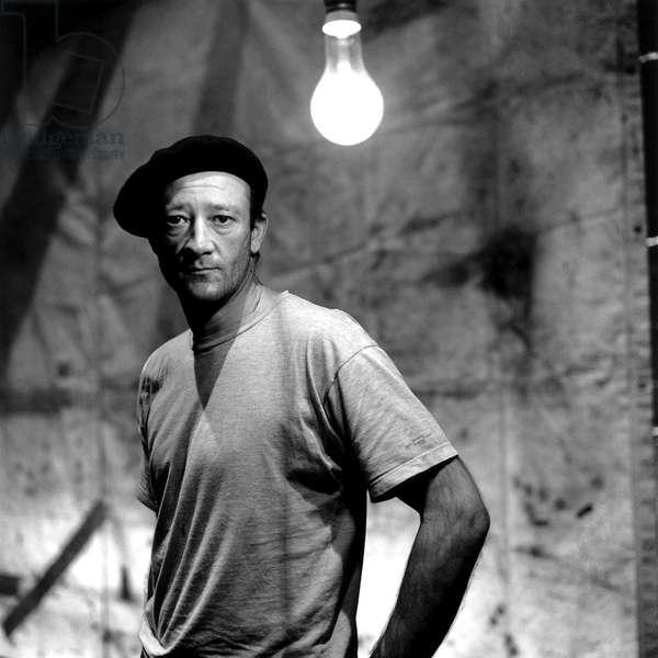 Cinema: Portrait of Carlo Brandt (born in 1947) actor from Switzerland.