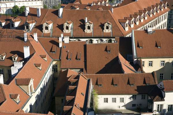 View of the roofs of the city of Prague, Czech Republic. Photography 2009
