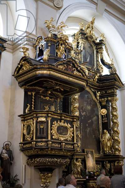 Chair of the Church of Our Lady of Victory in Prague, Czech Republic.
